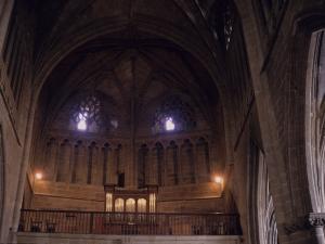Iglesia parroquial de San Salvador. Coro y órgano