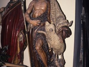 Iglesia parroquial de San Juan Bautista. Escultura. San Juan Bautista