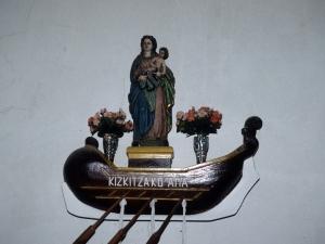 Ermita de la Andra Mari de Kizkitza. Escultura. Andra Mari