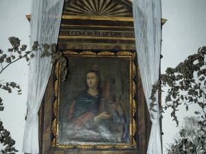 Ermita de Santa Bárbara. Pintura de Santa Bárbara