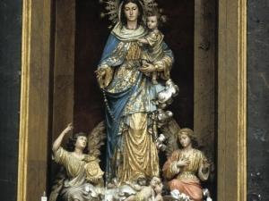 Iglesia parroquial de Santa María. Retablo de la Virgen del Rosario