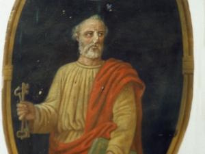 Iglesia parroquial de Santa María. Pintura. San Pedro y San Pablo