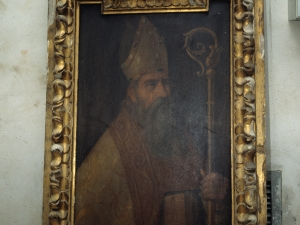 Iglesia parroquial de Santa María. Pintura. Santo obispo