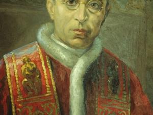 Iglesia parroquial de Santa María. Pintura. Pío XII