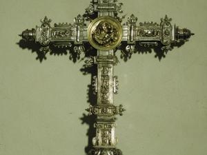 Iglesia parroquial de Santa Fe. Cruz procesional