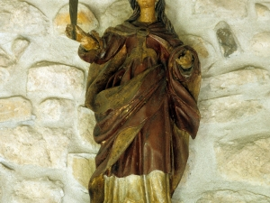 Ermita de Santa Cruz. Pintura. Santa mártir