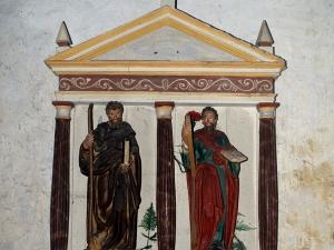 Ermita de San Bartolomé. Retablo de San Antón y San Andrés