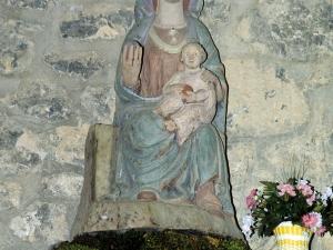 Ermita de la Andra Mari de Urbia. Escultura. Andra Mari