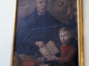 Iglesia de San Martín de Lasao. Pintura. San José de Calasanz