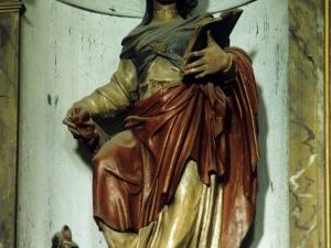 Iglesia parroquial de San Martín de Tours de Aginaga. Escultura. Santa Marina