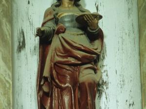 Iglesia parroquial de San Martín de Tours de Aginaga. Escultura. Santa Águeda