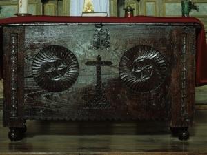 Iglesia parroquial de San Martín de Tours de Aginaga. Mesa de altar