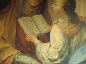 Iglesia parroquial de San Miguel Arcángel. Pintura. Santa Ana y la Virgen niña