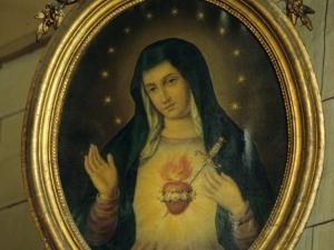Iglesia parroquial de San Esteban. Pintura. Sagrado Corazón de María