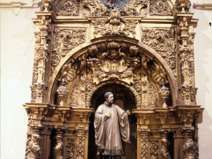 Iglesia parroquial de San Esteban. Retablo de San Francisco Javier