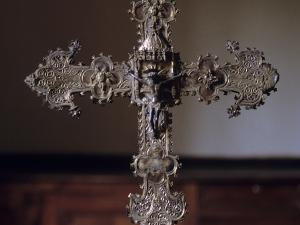 Iglesia parroquial de San Juan Bautista. Cruz procesional