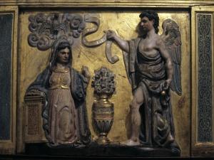 Santuario de Nuestra Señora de Dorleta. Anunciación. Relieve