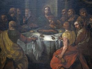 Santuario de Nuestra Señora de Dorleta. Pintura. Última cena