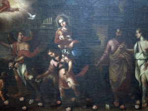 Santuario de Nuestra Señora de Dorleta. Pintura. Huída a Egipto