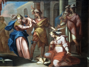 Santuario de Nuestra Señora de Dorleta. Pintura. Juicio de Salomón