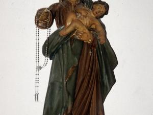 Iglesia parroquial de San Pedro de Leaburu. Escultura. Virgen del Rosario