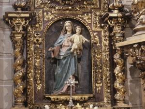 Iglesia parroquial de San Salvador. Retablo de la Virgen del Rosario