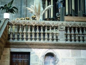 Basílica del Santo Cristo de Lezo. Detalle del interior de la basílica