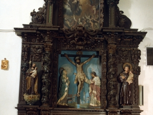 Iglesia parroquial de Santa Catalina. Retablo del Calvario