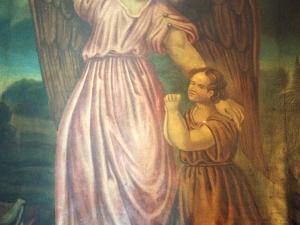 Ermita de Lierni. Pintura. Ángel de la Guarda