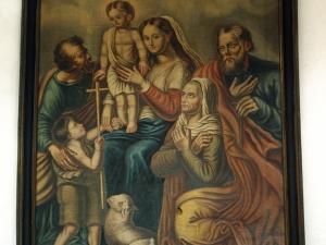 Ermita de Lierni. Pintura. Sagrada Familia