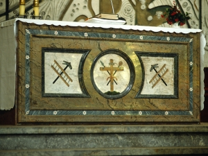 Iglesia parroquial de Nuestra Señora de la Asunción. Mesa de altar