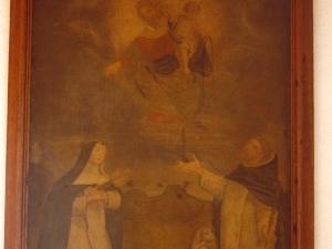 Iglesia parroquial de Nuestra Señora de la Asunción. Pintura. Entrega del rosario