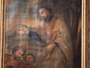 Iglesia parroquial de Nuestra Señora de la Asunción. Pintura. San Francisco bautizando