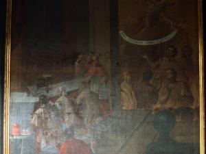 Iglesia parroquial de Nuestra Señora de la Asunción. Pintura. Celebración de la misa por las ánimas