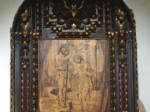 Iglesia parroquial de la Invención de la Cruz. Retablo del Bautismo de Cristo