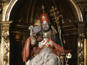 Iglesia parroquial de San Nicolás de Bari. Escultura. San Pedro