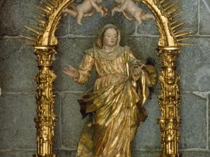 Santuario de Nuestra Señora de Itziar. Escultura. Virgen del Rosario