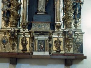 Santuario de Nuestra Señora de Itziar. Banco de retablo