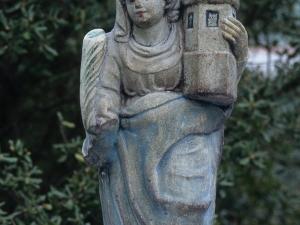 Ermita de San Salvador en Itziar. Escultura. Santa Bárbara