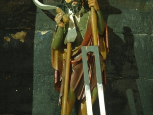 Ermita de San Andrés. Escultura. San Isidro