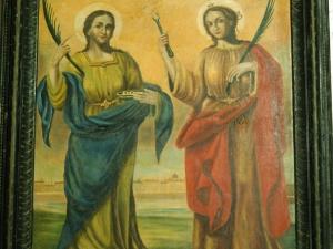 Ermita de San Andrés. Pintura. Santa Apolonia y Santa Lucía