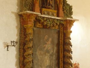 Ermita de la Andra Mari de Esozia. Retablo de San José