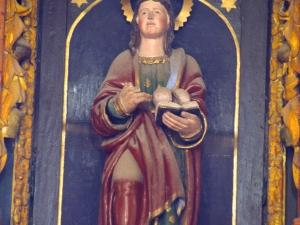 Ermita de la Andra Mari de Esozia. Escultura. Santa Águeda