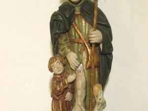 Ermita de la Andra Mari de Esozia. Escultura. San Roque