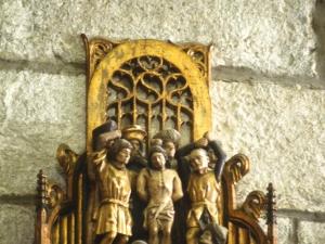 Iglesia parroquial de San Pedro. Flagelación de Cristo. Relieve