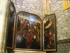 Iglesia parroquial de San Pedro. San Bernabé. Tríptico