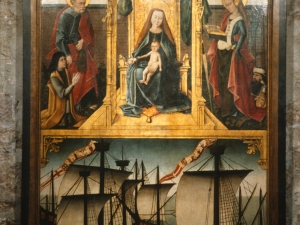 Iglesia parroquial de San Pedro. Tabla votiva. Pintura sobre tabla