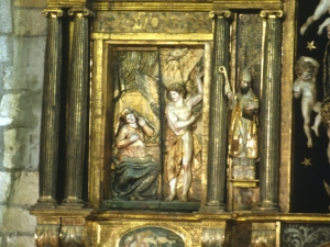 Iglesia parroquial de San Pedro. Detalle del retablo mayor