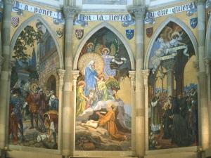 Iglesia parroquial de San Ignacio de Gros. Mosaico. Vida de San Ignacio de Loyola