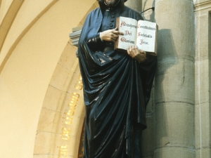 Iglesia parroquial de San Ignacio de Gros. Escultura. San Ignacio de Loyola